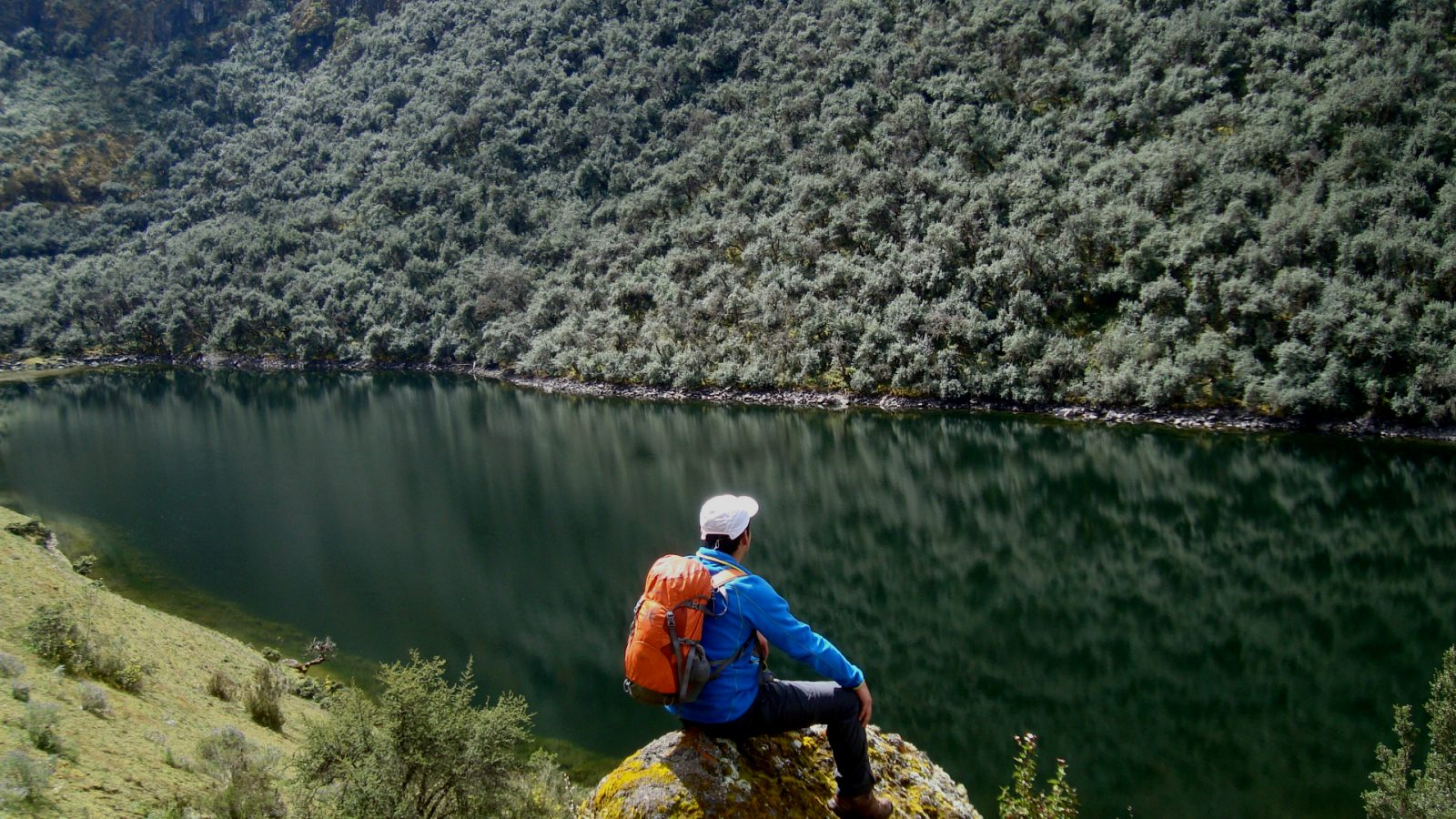 The Yanacocha lake trekking by inka trail trek