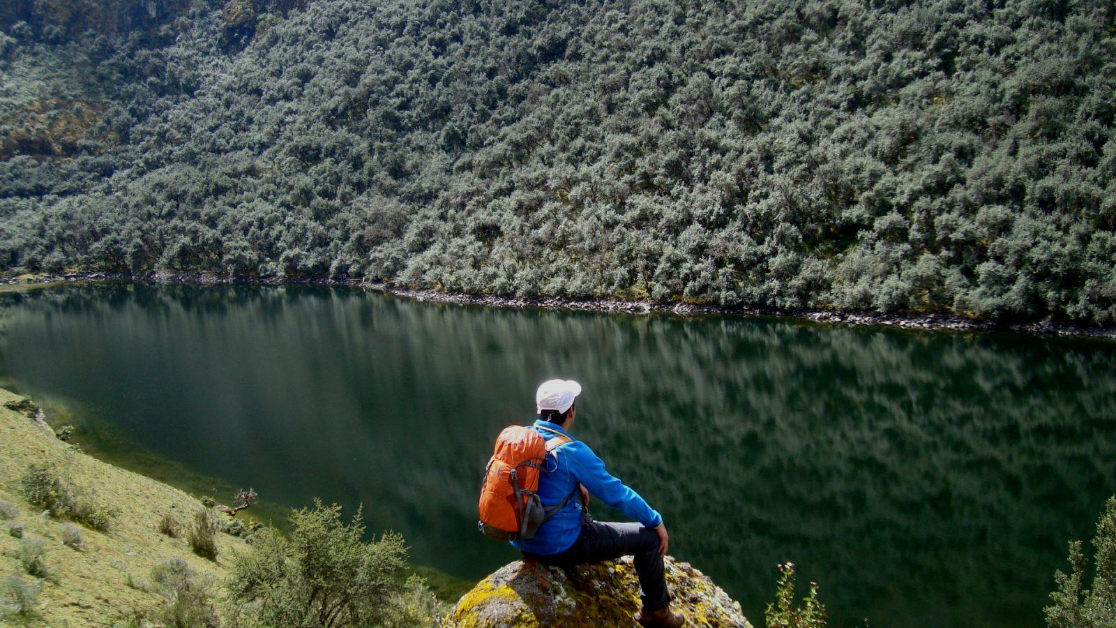The Yanacocha lake trekking by inka trail trek