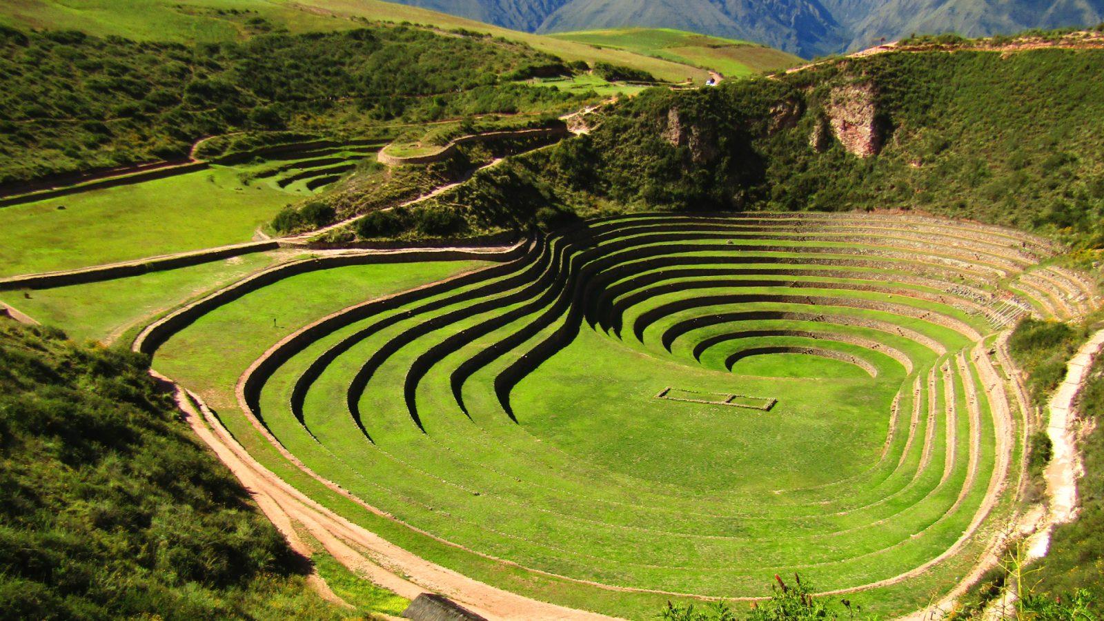 inca terraces of moray in cusco by inka trail trek