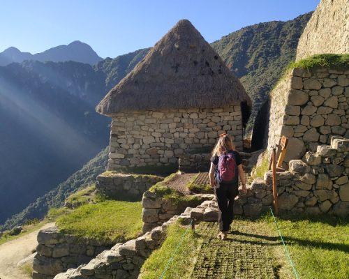 inka trail trek sun rise in machu picchu