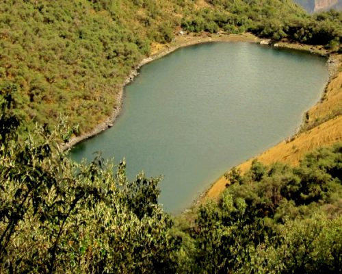lake yanacocha in huayoccari by inka trail trek