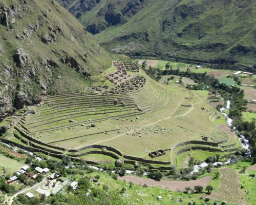 ruins of llaqtapata by inka trail trek