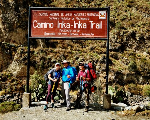 start of the classic inca trail by inka trail trek