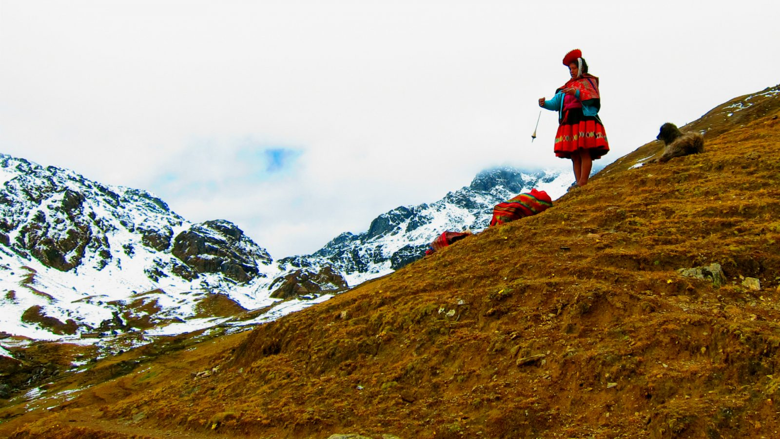 TYPICAL VILLAGER OF LARES BY INKA TRAIL TREK